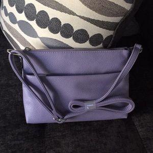 Women's Lavender Flat Crossbody Bag